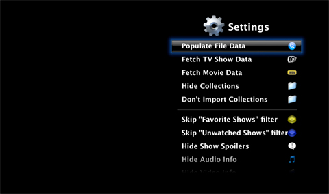 Settings Menu 1